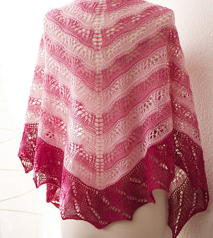 Picture of Shelridge Striped Shawl -- Instant Download