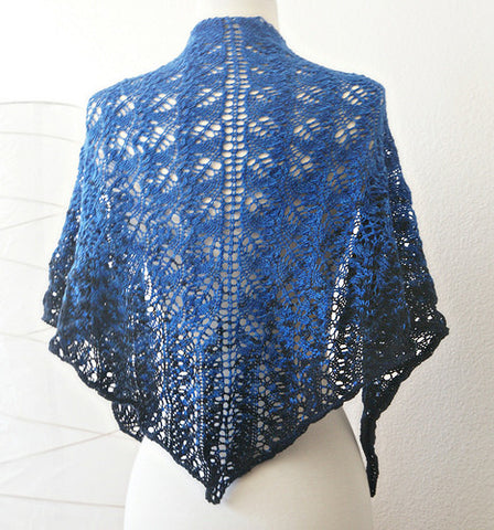 Picture of Blue Shawl -- Instant Download