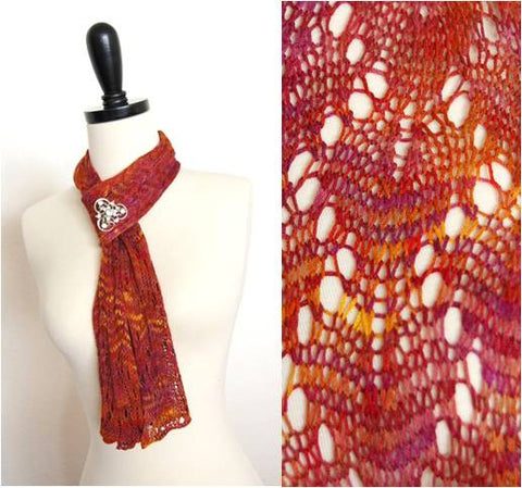 Picture of Easy Bamboo Lace Scarf -- Instant Download