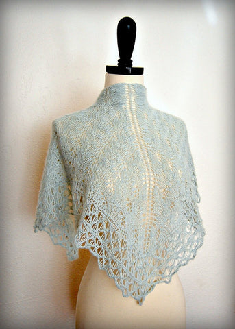 Picture of Jade Cashmere One Skein Shawl -- Instant Download