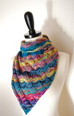 Asymmetrical Triangle Shawl -- Instant Download