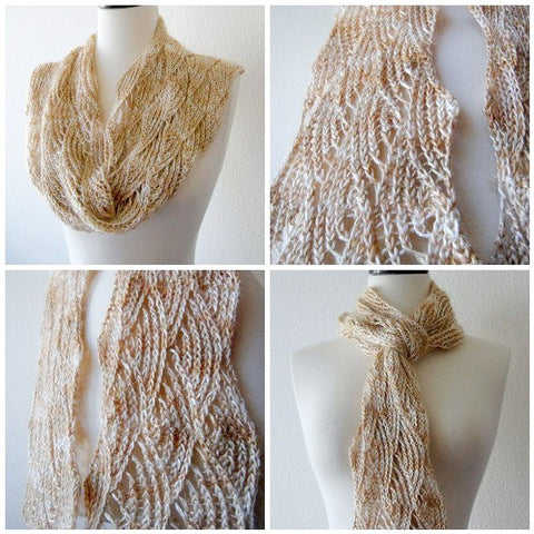 Picture of Intermediate Scarf in Silk Rhapsody Glitter -- Instant Download