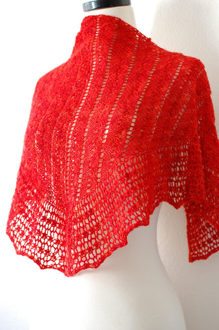 Picture of The Two Rivers One Skein Shawl -- Instant Download
