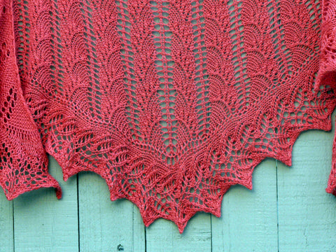 Picture of Flambe One Skein Shawl -- Instant Download