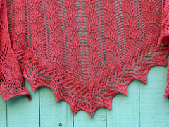 Flambe One Skein Shawl -- Instant Download