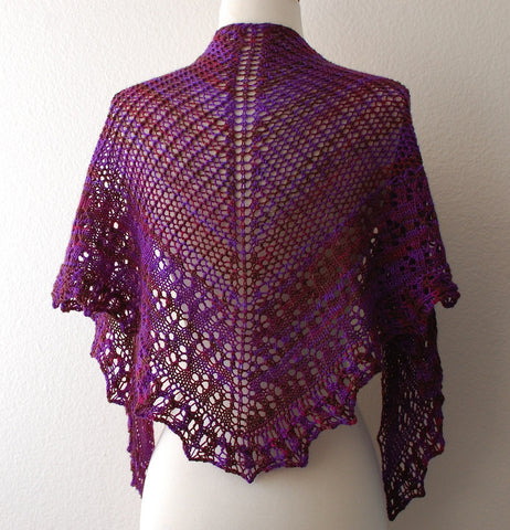 Picture of August Pansy Shawl -- Instant Download