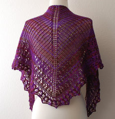 August Pansy Shawl -- Instant Download