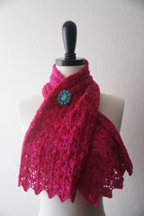 Baah Scalloped Scarf -- Instant Download