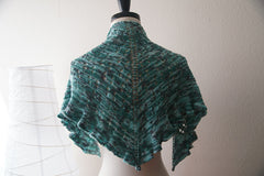 Water Dragon One Skein Shawl -- Instant Download