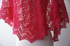 The Lisa One Skein Shawl -- Instant Download