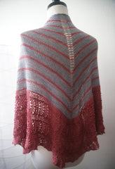 Among Friends Two Color Shawl--Instant Download