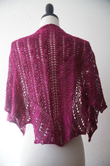 Dragon Fruit Shawl -- Instant Download