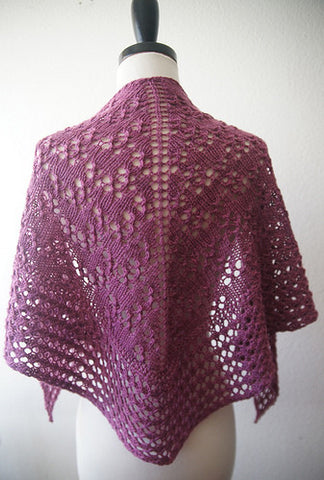 Picture of Damson Plum Shawl -- Instant Download