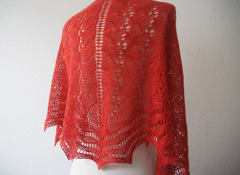 Picture of Wave Maiden One Skein Shawl -- Instant Download