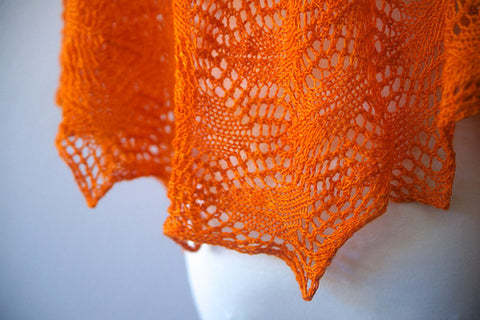 Picture of Andria's Shawl--Glazed Over Carrots -- Instant Download