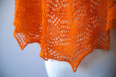 Andria's Shawl--Glazed Over Carrots -- Instant Download