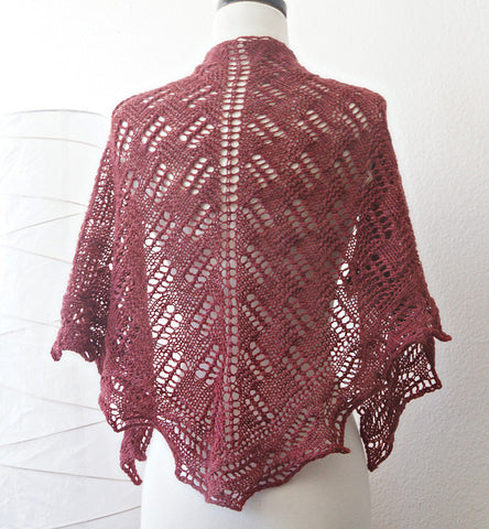 Picture of Green Mountain Spinnery Shawl -- Instant Download
