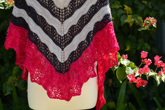 Diamond Shoal Shawl -- Instant Download