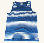 Heat Sheet Stripe Tank | Sailing Blue