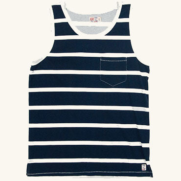 Windward Stripe Tank | Indigo
