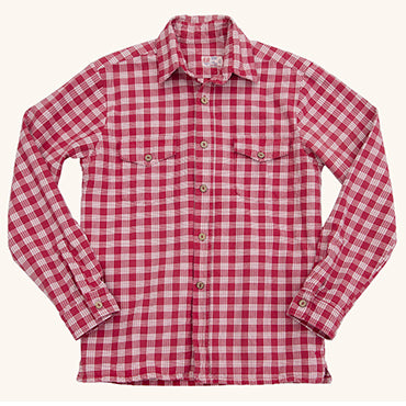 Palaka Shirt Red/White Check