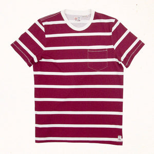 Windward Stripe Tee | Lava Red