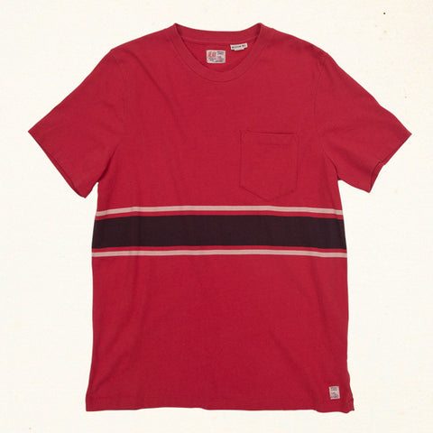 Uncle Lou Stripe Tee | Alli Red