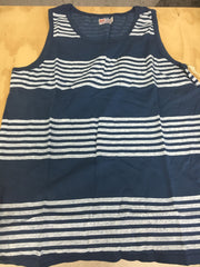 Heat Sheet Stripe Tank | Blue
