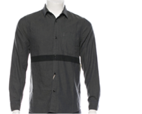 San 'O Stripe Oxford Long Sleeve | Black