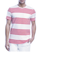 Heat Sheet Stripe Tee | Alii Red