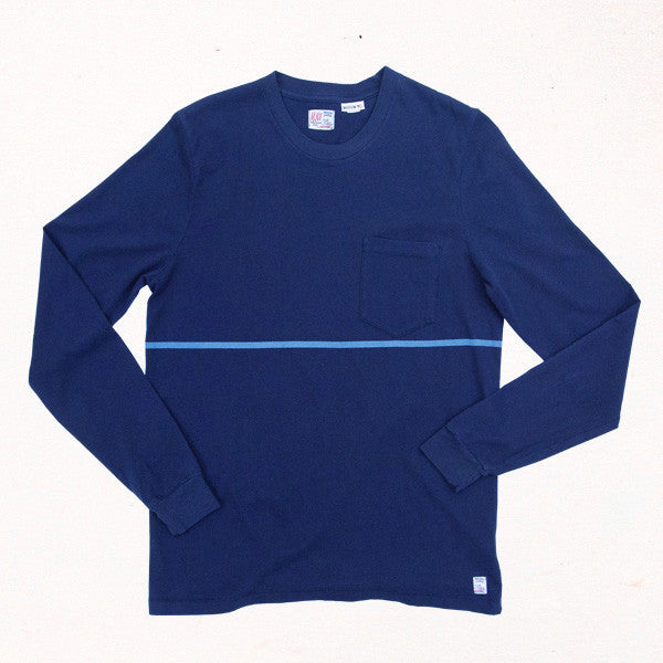 Phillips Stripe L/S Tee | Indigo