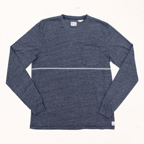 Phillips Stripe L/S Tee | Heather Charcoal