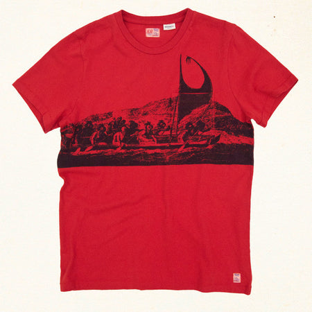 Carroll Canoe Tee | Molten Red