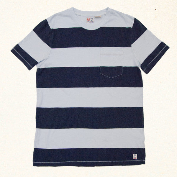 South Bay Stripe Pocket Tee | Indigo