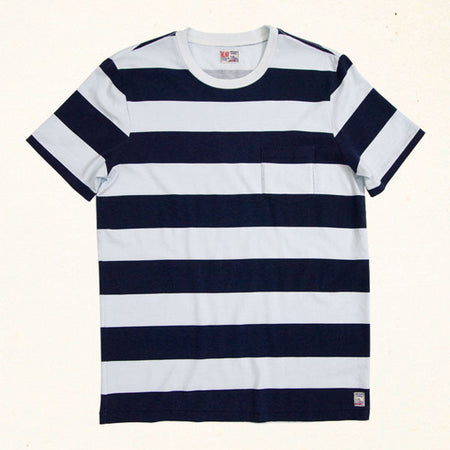 Mainland Stripe Pocket Tee | Indigo