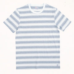 Malibu Stripe Tee | Heather Grey