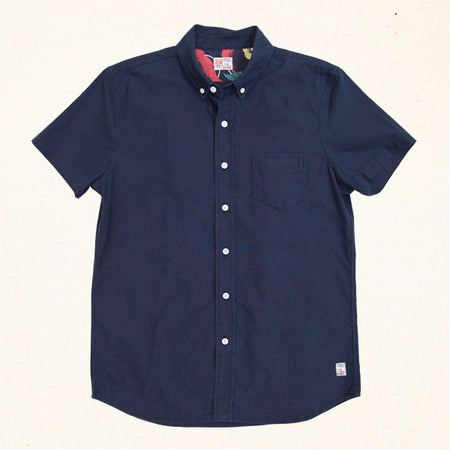Island Time Classic S/S Button Up | Indigo