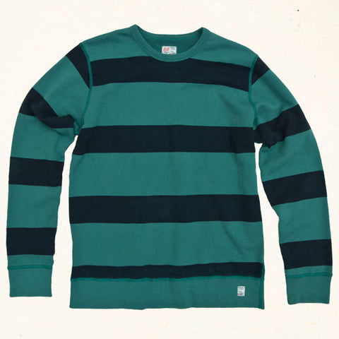 Southbay Stripe Sweatshirt | Algae Green