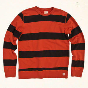 Southbay Stripe Sweatshirt | Lava Rock