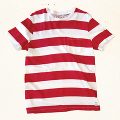 Mainland Stripe Tee | Alii Red