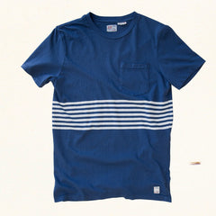 Heat Sheet Stripe Tee | Blue Hawaii