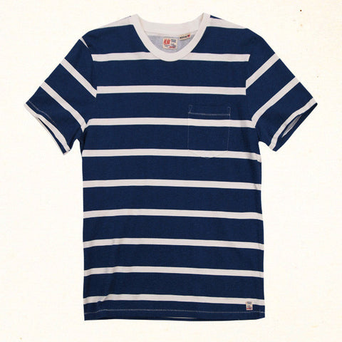 Windward Stripe Tee | Indigo