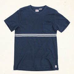 Double Overhead Stripe | Indigo Blue