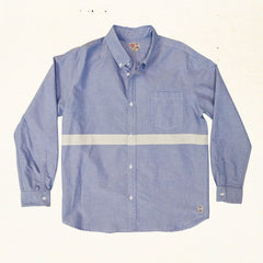 San 'O Stripe Oxford L/S | Sky Blue