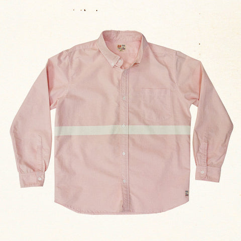 San 'O Stripe Oxford L/S | Sunrise Pink