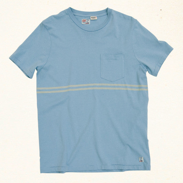 Double Overhead Stripe | Seventies Blue