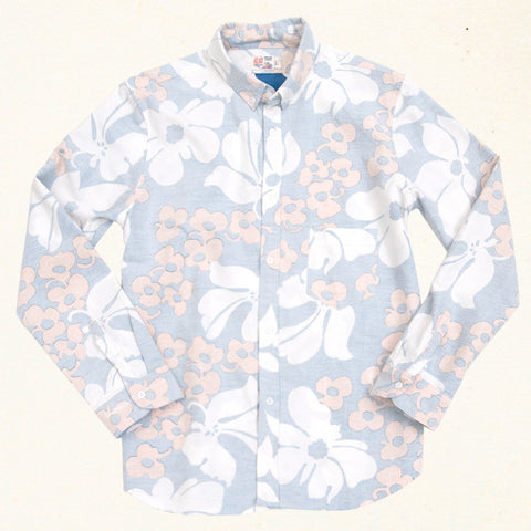 Canyon Bloom L/S | Seventies Blue