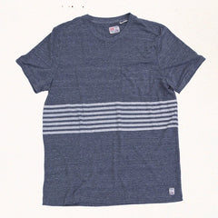 Heat Sheet Stripe Tee | Heather Grey