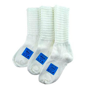 Antonio Pacelli Premium Ankle Length Poodle Socks for Irish Dancing in Ultra White Color on a white background All Sizes CorrsIrishshoes.com