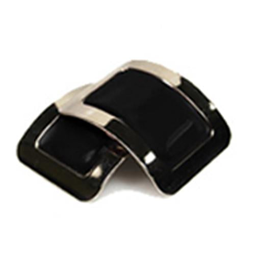 Colored Square Jig Shoe Buckles with Enamel Centres for Irish Dancers Black Color CorrsIrishShoes.com